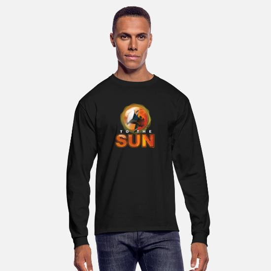 Milky Way Long-Sleeve Shirts - To The Sun OuterSpace Galaxy Universe Science - Men's Longsleeve Shirt black