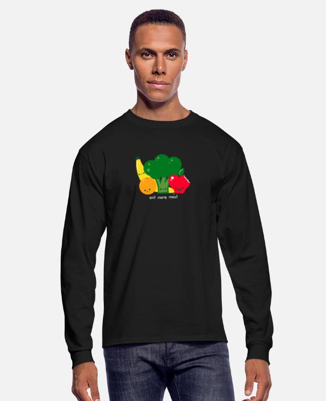 Movie Long-Sleeved Shirts - Eat more meat - Men's Longsleeve Shirt black