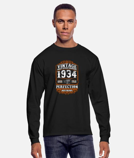 Legend Long-Sleeved Shirts - Vintage 1934 Perfection Mostly OEM Parts - Men's Longsleeve Shirt black