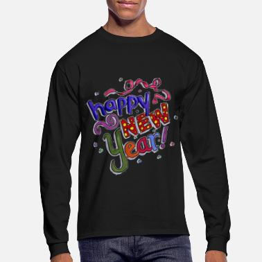 Year Happy New Year - Men's Longsleeve Shirt
