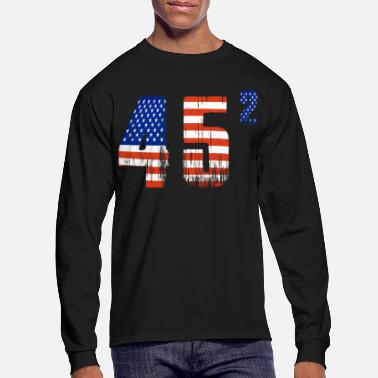 Right Wing 45 Squared Trump 2020 Second Term USA Vintage - Men's Longsleeve Shirt