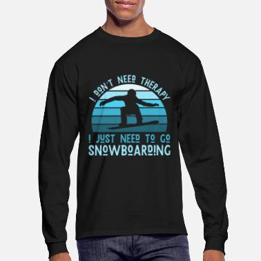 Mens Snowboarding Therapy - Snowboarders - Men's Longsleeve Shirt