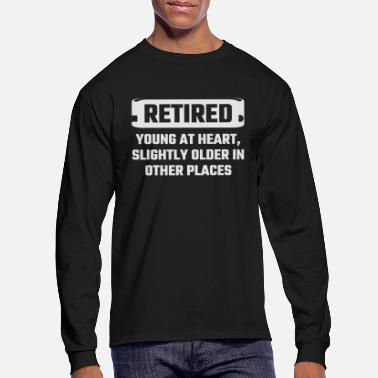Mechanic Retired - Retired Young At Heart, Slightly Older - Men's Longsleeve Shirt