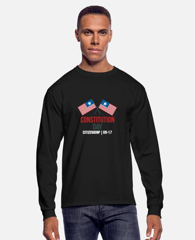 Franklin Long-Sleeved Shirts - Citizenship Day Constitution Day Citizenship 09-17 - Men's Longsleeve Shirt black