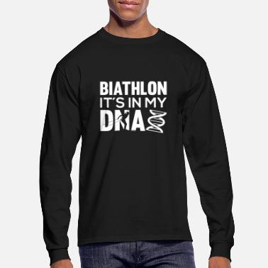Biathlon Biathlon It´s In My DNA Motive for a Biathlete - Men's Longsleeve Shirt