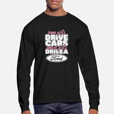 Michael Clifford Smart girls drive a ford - Men's Longsleeve Shirt