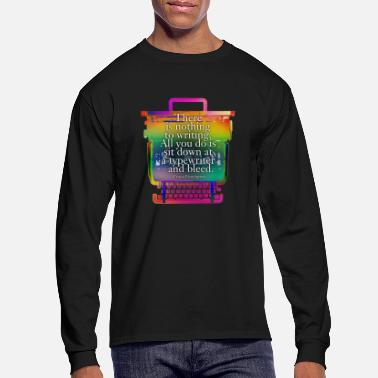 Valentine Typewriter hemingway typewriter - Men's Longsleeve Shirt