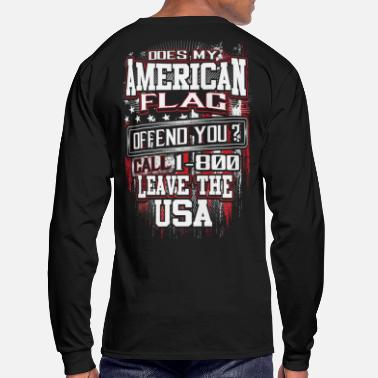 CALL 1 -800 Leave The USA - Men's Long Sleeve T-Shirt