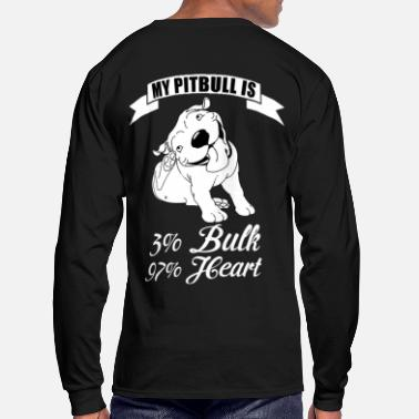 Bull MY PIT BULL IS - Men's Long Sleeve T-Shirt