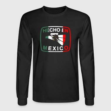 Cool Mexican Shirt Mexican Flag Shirt for Mexican Pride HEcho En Mexico - Men's Long Sleeve T-Shirt