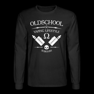 oldschool vaping lifestyle - vape design white - Men's Long Sleeve T-Shirt