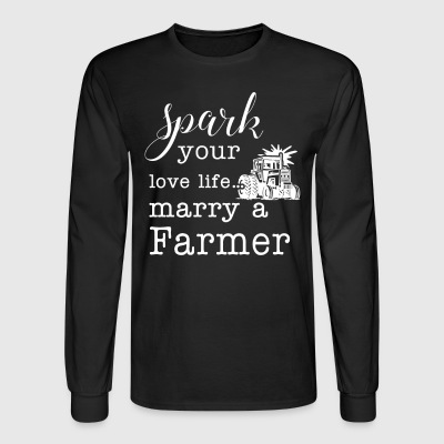 Marry a Farmer T Shirts - Men's Long Sleeve T-Shirt