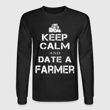 Date a Farmer T Shirts - Men's Long Sleeve T-Shirt