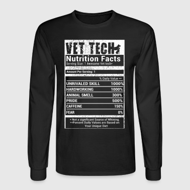 Vet Tech nutrition Facts - Men's Long Sleeve T-Shirt