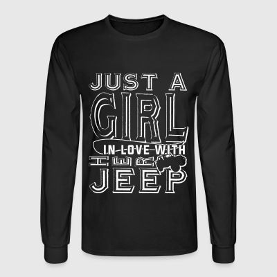 Just A Girl In Love With Her Jeep T Shirt - Men's Long Sleeve T-Shirt