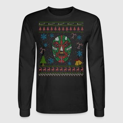 Mexican Wrestler Christmas Ugly Shirt Mexican Wrestling - Men's Long Sleeve T-Shirt