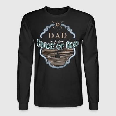 Dad By Grace God Dad Gifts - Men's Long Sleeve T-Shirt