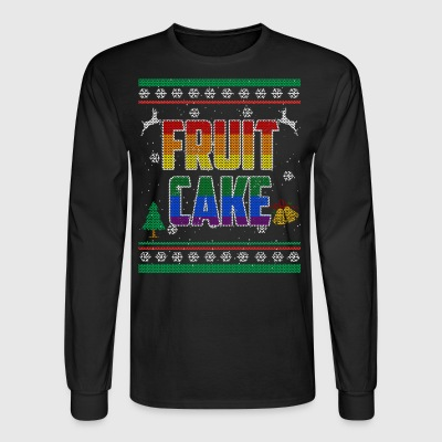 Fruit Cake LGBT Gay Pride Ugly Christmas Sweater Shirt - Men's Long Sleeve T-Shirt