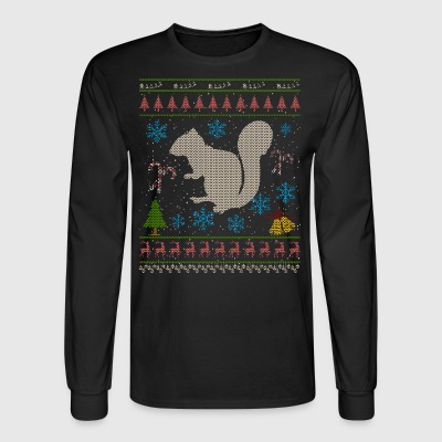 Pet Squirrel Christmas Ugly Shirt Squirrels As Pets - Men's Long Sleeve T-Shirt