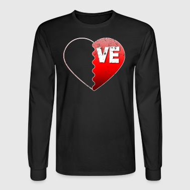 Valentine Couple Love VE Valentines Day Gifts For Couples - Men's Long Sleeve T-Shirt