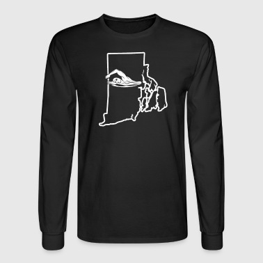 Swimming Training Shirt Rhode Island Funny Swim Shirt - Men's Long Sleeve T-Shirt