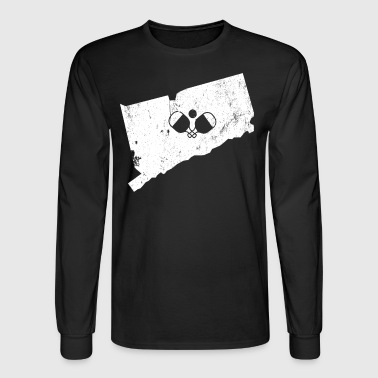 Connecticut Pickleball Shirt Pickleball Gifts - Men's Long Sleeve T-Shirt