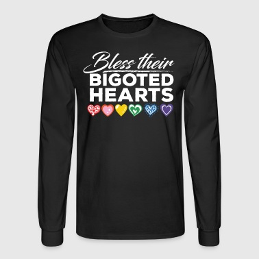 Gay Pride - Bless Their Bigoted Hearts - Men's Long Sleeve T-Shirt