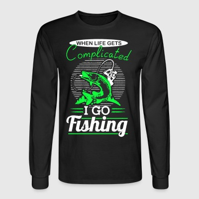 I Go Fishing Shirt - Men's Long Sleeve T-Shirt
