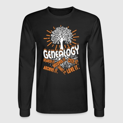 Genealogy Shirt - Men's Long Sleeve T-Shirt