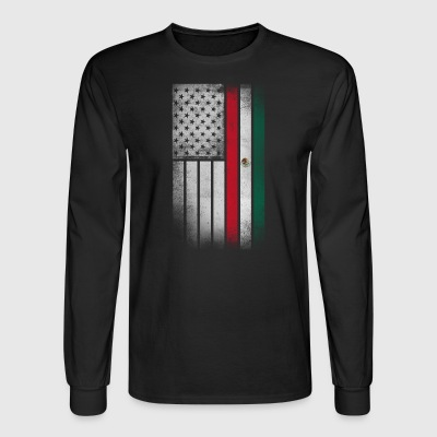 Mexican American Flag - Half Mexican Half American - Men's Long Sleeve T-Shirt