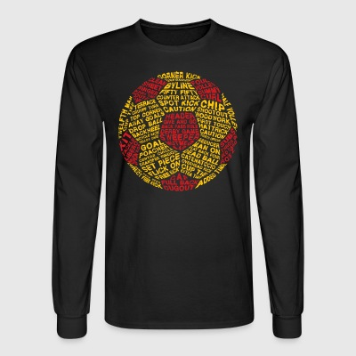 Soccer Ball Typography - Men's Long Sleeve T-Shirt