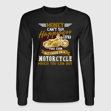 HAPPINESS MOTORCYCLE SHIRT - Men's Long Sleeve T-Shirt