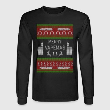 Vape Merry Vapemas Christmas Xmas Vaper Vaping - Men's Long Sleeve T-Shirt