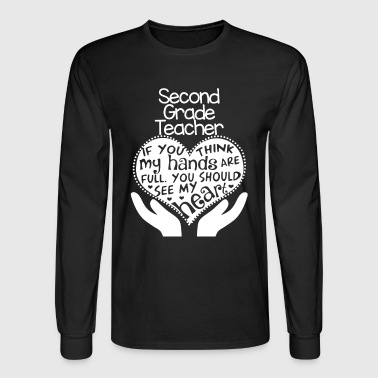 2nd Grade Teacher Shirt - Men's Long Sleeve T-Shirt
