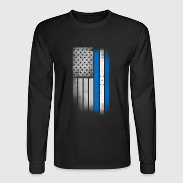 Honduran American Flag - Men's Long Sleeve T-Shirt