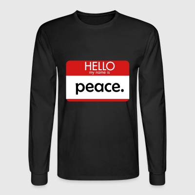 HELLO my name is peace - Men's Long Sleeve T-Shirt