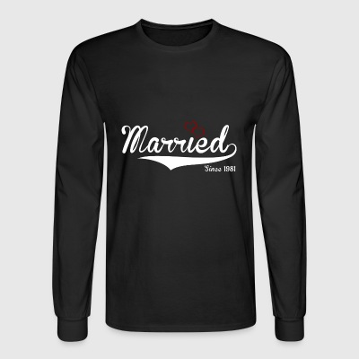 Married Since 1981 cute logo - Men's Long Sleeve T-Shirt