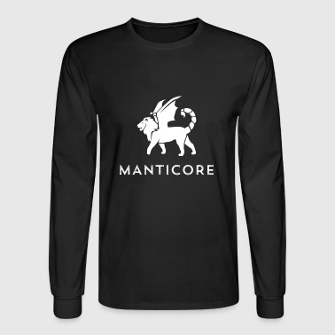 Manticore White Logo - Men's Long Sleeve T-Shirt
