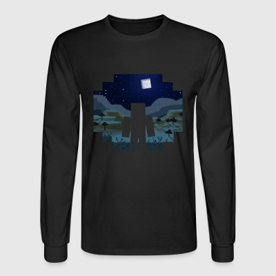 Mine craft Landscape Night - Men's Long Sleeve T-Shirt
