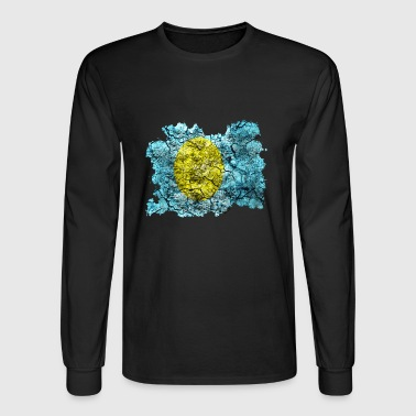 Palau Vintage Flag - Men's Long Sleeve T-Shirt