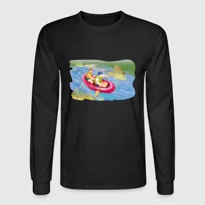 rafting boat boot schlauchboot kanu canoe - Men's Long Sleeve T-Shirt