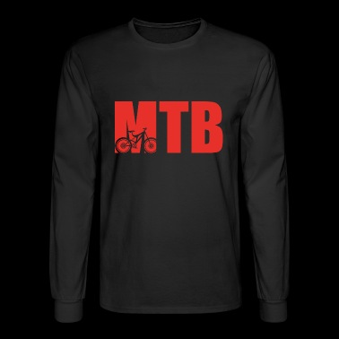 MOUNTAINBIKE FAHRRAD CYCLIST fahren berge - Men's Long Sleeve T-Shirt