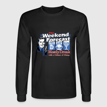 weekend forecast - Men's Long Sleeve T-Shirt