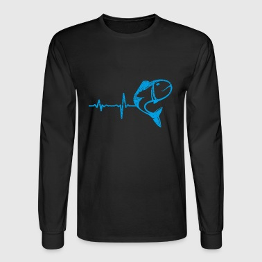 gift heartbeat fishing 02 - Men's Long Sleeve T-Shirt