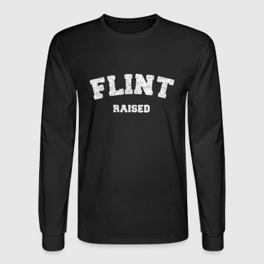 Flint Raised Michigan Pride - Men's Long Sleeve T-Shirt