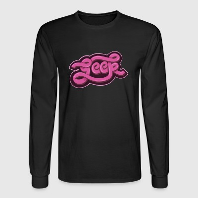 GEEK (Pink) - Men's Long Sleeve T-Shirt