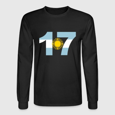 Argentinia Numbers, 17, Jersey Numbers Argentinia - Men's Long Sleeve T-Shirt