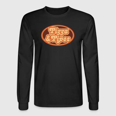 Pizza and Pipes - Men's Long Sleeve T-Shirt