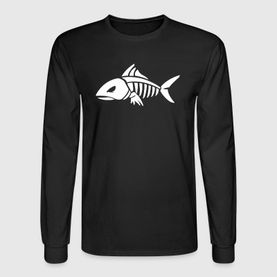 Fish Skeleton - Men's Long Sleeve T-Shirt
