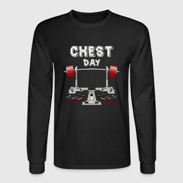 Chest Day T-shirt - Men's Long Sleeve T-Shirt